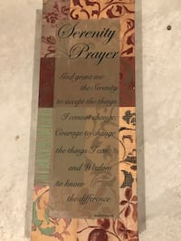 Serenity prayer canvas wall-mounted decor