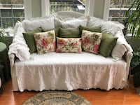 white and brown floral fabric sofa Mount Airy, 21771
