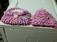 Childs hat and purse