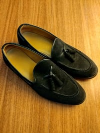pair of black leather loafers Bristow, 20136