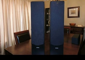Nice smaller towers. 90 watts each, Great for rap or video game player