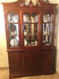 brown wooden framed glass display cabinet Canutillo, 79835