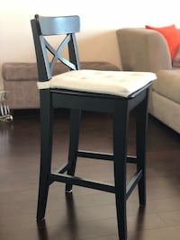 IKEA bar stool with beige/white cushion (6 available) Houston, 77006