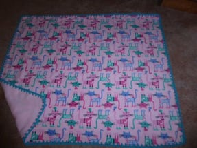 Cat print 4'x5' Fleece throw/lap fleece blankets  Sale 25.00 (reg 40)