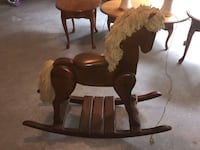 Oak wooden rocking horse  Methuen, 01844