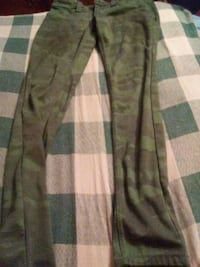 green and brown plaid textile Gobles, 49055