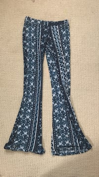 black, gray, and white floral boot cut pants San Marcos, 92069