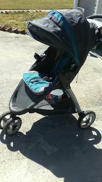 baby's grey and blue jogging stroller Powder Springs, 30127