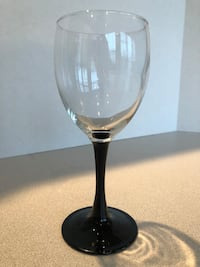 Set of Black and clear footed wine glasses Ashburn, 20148