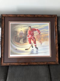 James lumbers gordie howe framed print  Acton, L7J 3A1