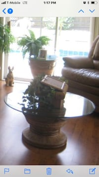 Heavy duty glass coffee table with two glass side tables Gambrills, 21054