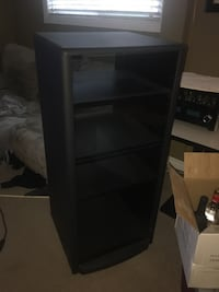 Glass stereo cabinet