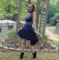 Blue, sequin, formal dress