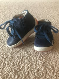 Clarks leather blue baby/toddler shoes size us 4,5 w Houston, 77094