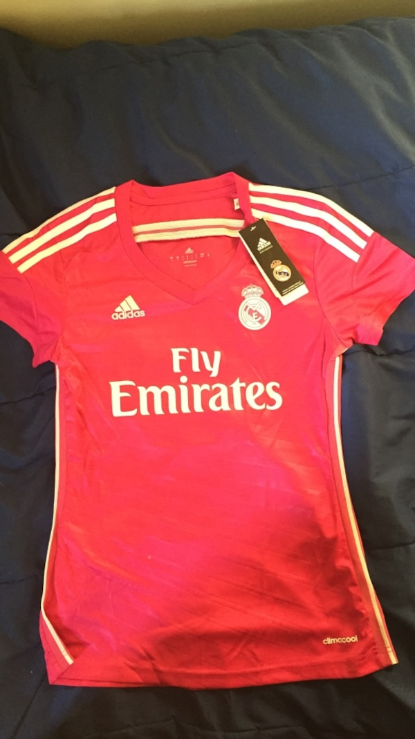 reputable site 44338 d0e8c Pink Small Woman's Real Madrid Ronaldo Jersey