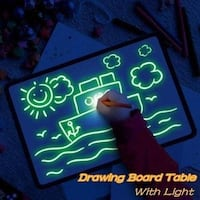 Drawing Board With Light Magic Drawing Pad Glow Light Effects Puzzle Board Notes Ajax