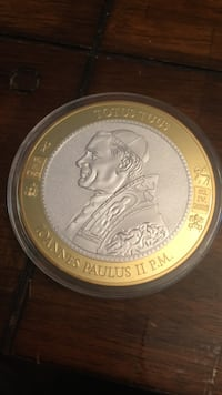 Pope Jonn Paul Gold Silver Large Coin San Antonio, 78258