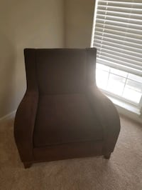 Brown cloth chairs (2)