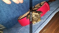 Black and red leather belt Manchester, 03104