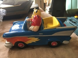 M&M hot rod convertible collectible candy car dish
