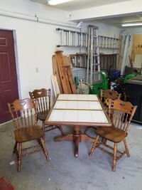 Solid wood table and chairs Alden, 14004