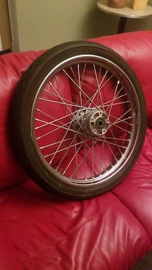 Motorcycle Tire and Rim