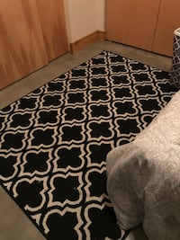 Black and white rug 5x6 St. Louis, 63104