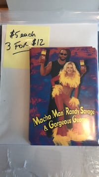 Macho Man and Gorgeous George Slim Jim Post Cards Manalapan, 07726