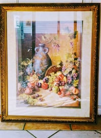 "Large, heavy ""Still Life""frame 32""x 25"""