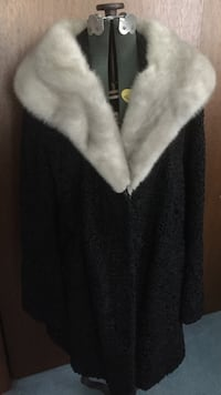 Black persian lamb coat with blue fox collar--excellent condition Conewago, 17408