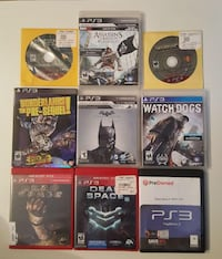 Assorted sony ps3 games