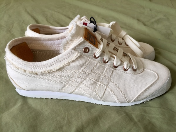 official photos 61cfb a3566 NEW Asics Onitsuka Tiger Mexico 66 Slight White Denim Shoes D6F2N Mens Sz 5  or 6 RARE
