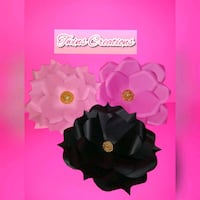 black and pink floral wreath Los Angeles, 90002