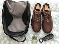 Pair of brown leather golf shoes Wheaton, 54739