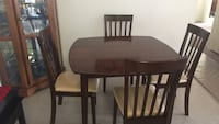 rectangular brown wooden table with four chairs dining set El Cajon, 92021