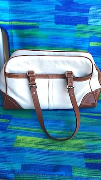white and brown leather tote bag Watsonville, 95076