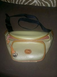 white and brown leather crossbody bag 1400 mi