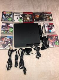 PlayStation 3 with games and control. Toronto, M9C 4M7