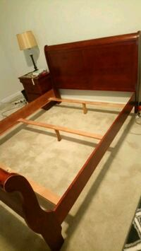 brown wooden bed frame with mattress Ashburn, 20148