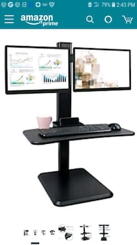 3 - new dual monitor sit stand workstations Citrus Heights