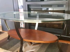Center and lamp glass(side table)