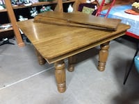 26394 Dining Table or Kitchen Table with 4 Leafs (Leaves) Made of Oak 60081