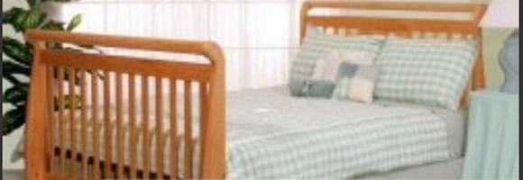 Matching solid pine full sleigh bed frame, nightstand, dressers, etc