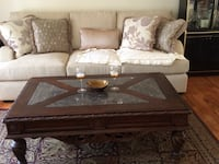 Coffee table 2 end tables and the sofa