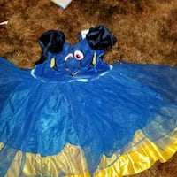 blue and orange tutu dress Fresno, 93722