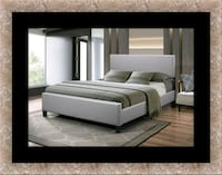 Grey platform bed free mattress& delivery all size Alexandria, 22305