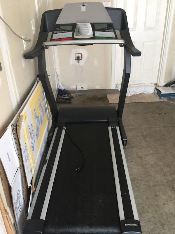 White and black Epic Treadmill. ef510ff6-69c8-4ef3-8fd1-2980008dcc1e