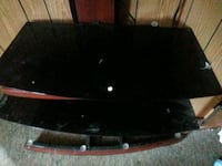 black and red wooden TV stand Fort Collins