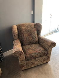 Brown with multi-color patterns sofa chair Baltimore, 21212
