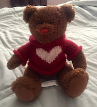 Brown and red bear plush toy Corona, 92880
